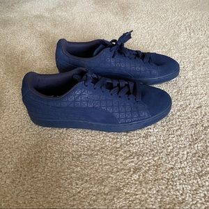 Blue Puma Suede Shoes